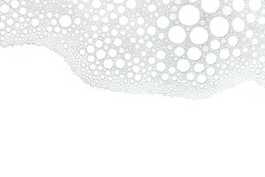 Foam bubbles white background
