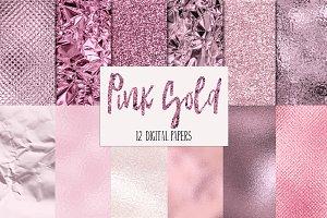Pink Rose Gold Textures