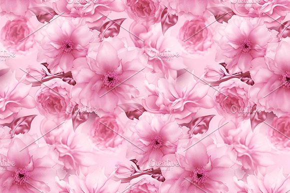 Pink cherry sakura flower floral blue digital art seamless pattern pink cherry sakura flower floral blue digital art seamless pattern texture background patterns mightylinksfo