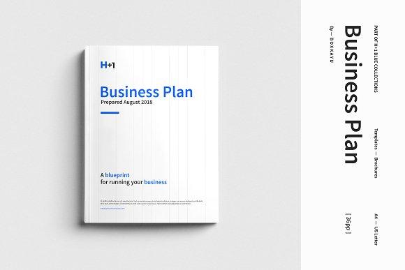 H Business Plan Brochure Templates Creative Market - Indesign business plan template