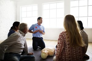 CPR first aid training class