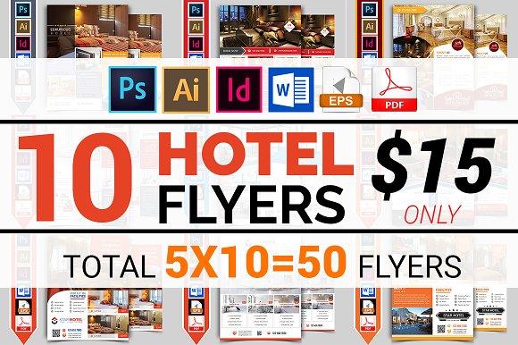 10 hotel flyers bundle 90 off flyer templates creative market