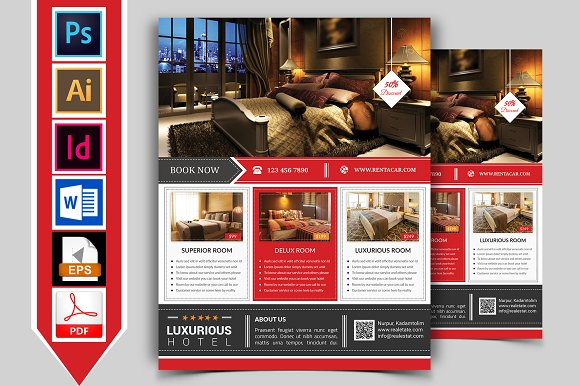 10 Hotel Flyers Bundle 90 OFF Flyer Templates Creative Market – Hotel Brochure Template