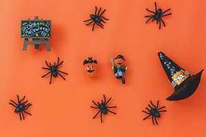 Halloween decoration background.