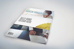Belly Band Book/Magazine Mockups