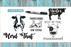 SVG & PNG Cow Quotes