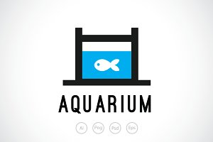 Small Aquarium Logo Template