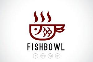 Fish Bowl Soup Logo Template