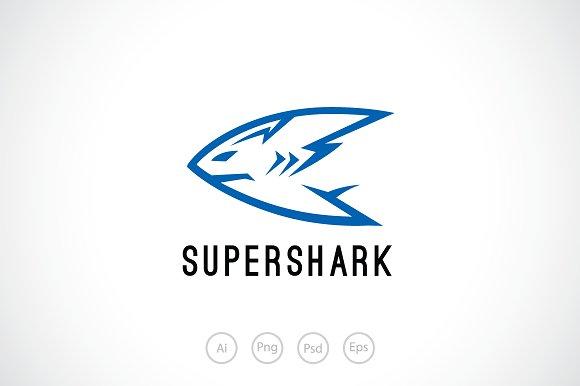 Super Shark Logo Template
