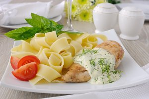 chicken and cream sauce