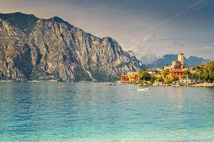Malcesine tourist resort, Italy