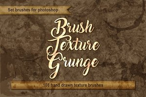 Set brushes grunge for photoshop