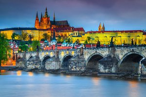 Prague night landscape