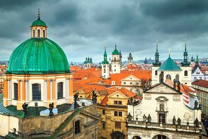 Colorful roofs in Prague