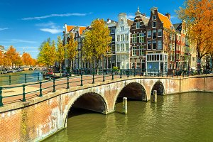 Famous bridges in Amsterdam