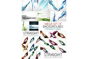 Straight lines poster backgrounds set