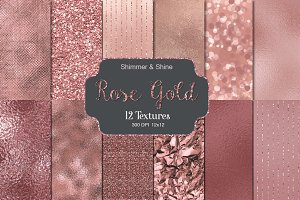 Rose Gold Shimmer & Shine Textures