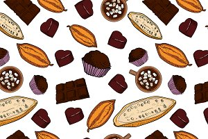 Color chocolate Vector pattern