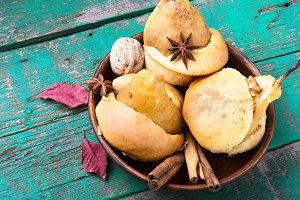 Autumn Baked Pear
