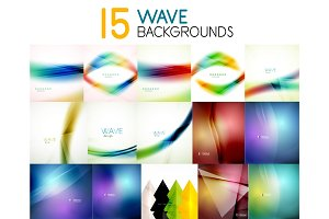 Mega collection of blurred wave abstract backgrounds