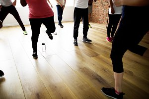 Diversity People Exercise Class