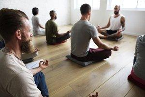 Yoga class concept