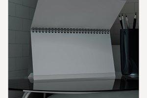 Empty desk calendar