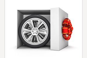 Gift box with tyres