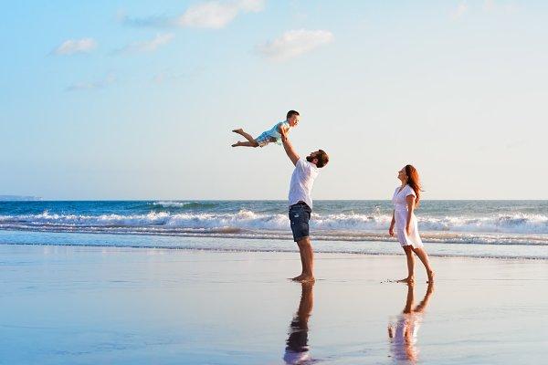 Family beach beach vacation
