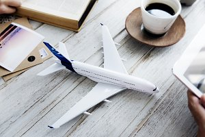 Travel flight explore