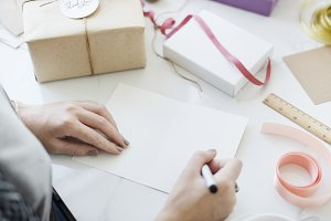 Gift Writing Message Hobby
