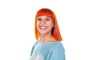 Cute redhead woman