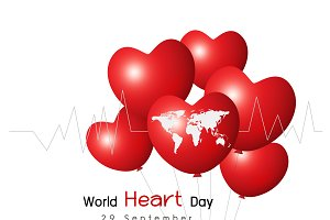 World heart day design