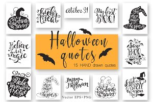 Halloween hand drawn Quotes