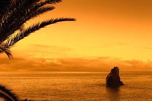 rock islet off the coast