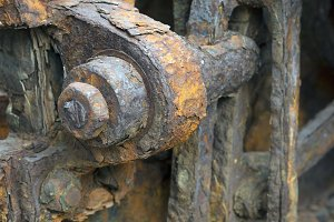 close-up of rusty gears