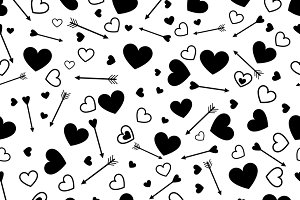 Heart love seamless pattern