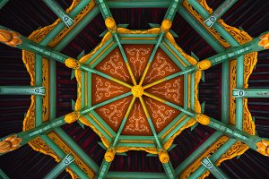 Traditional chinese abstract woodenroof as background background