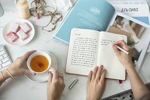 Writing Diary Teatime