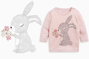 cute bunny / Happy Easter / T-shirt