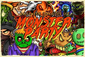Monster Party ( Halloween Set )