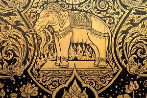 Thai motifs.