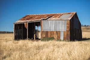 Outback shed in Australia