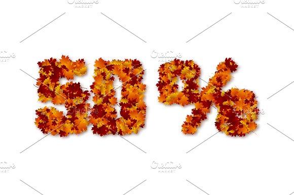 50 Percent Autumn Leaves Sale Sign