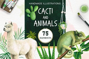 Cacti and Animals - Design Kit