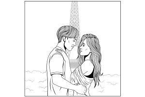 guy and girl, hug