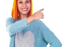 Happy redhead girl