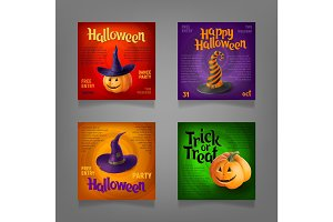 Halloween Party Design set