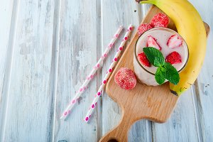 Refreshing pink smoothie