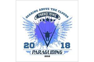 Paragliding. Sport emblem